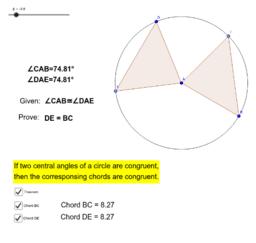 Circle Theorem - CONGRUENT CHORDS