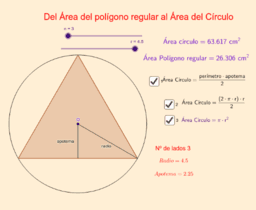Polígono regular Área