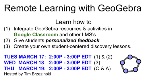 Remote Learning with GeoGebra