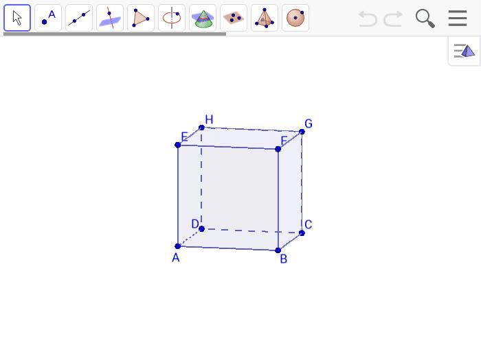 Koristeći se alatima sa alatne trake odredi međusobne položaje pravaca i ravnina.