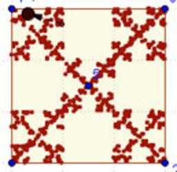 El Juego del caos sobre un cuadrado