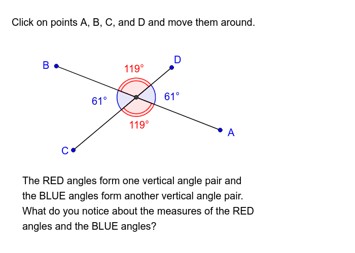 Angle Relationships - Vertical Angles Press Enter to start activity