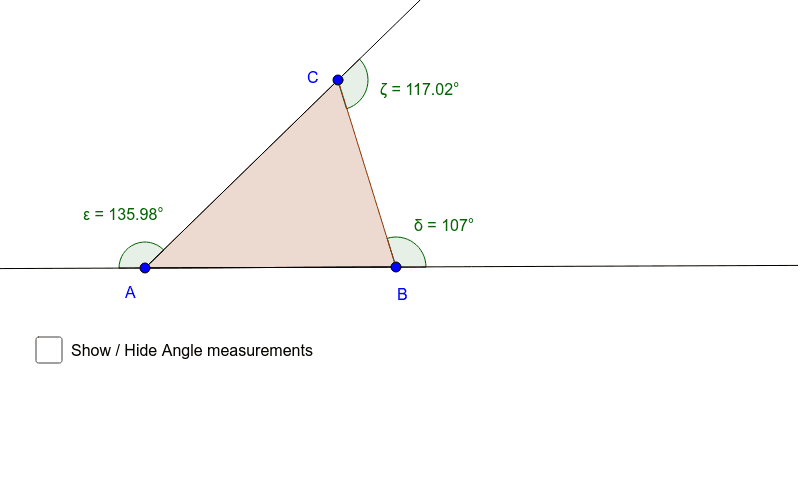 Property of the exterior angle of the triangle Press Enter to start activity