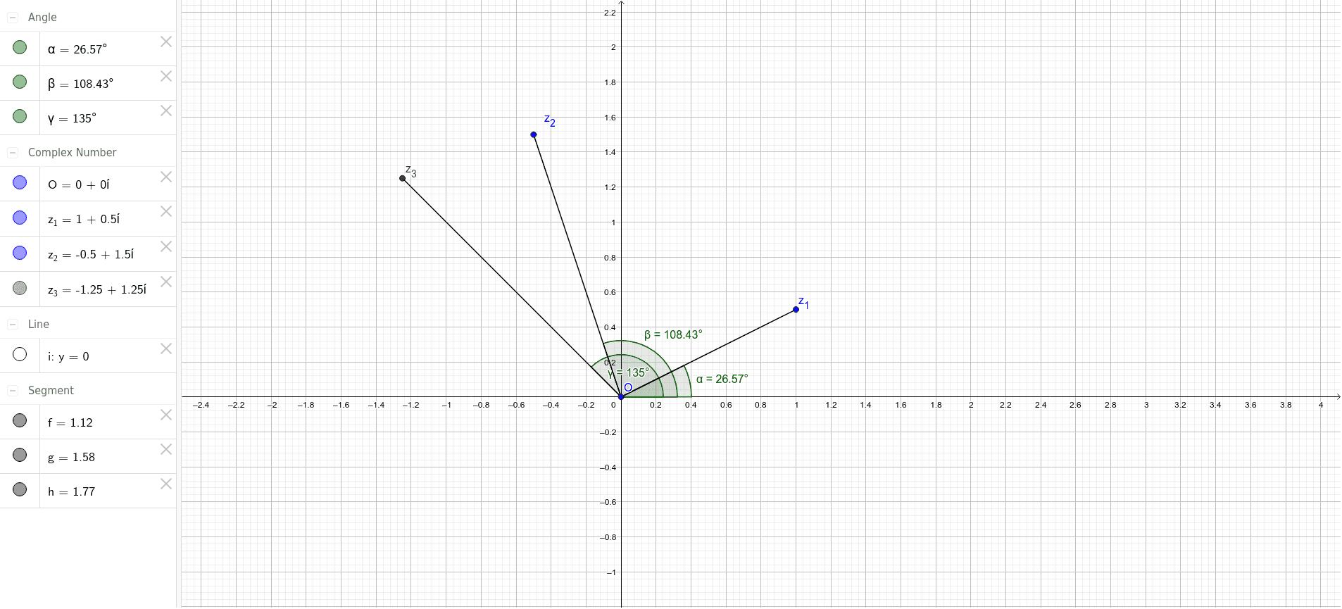 Verplaats z_1 en/of z_2 en kijk naar de verandering van z_3 Klik op Enter om de activiteit te starten