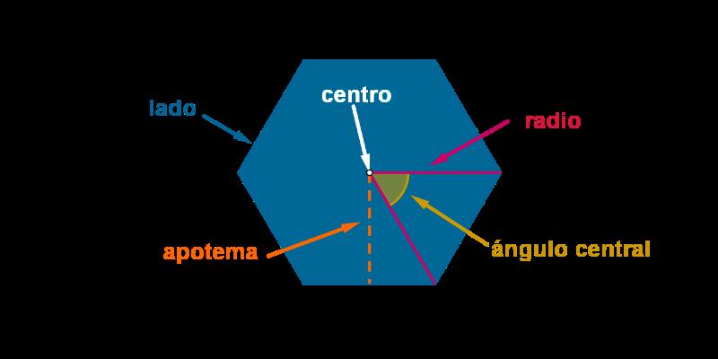 Elementos del polígono regular