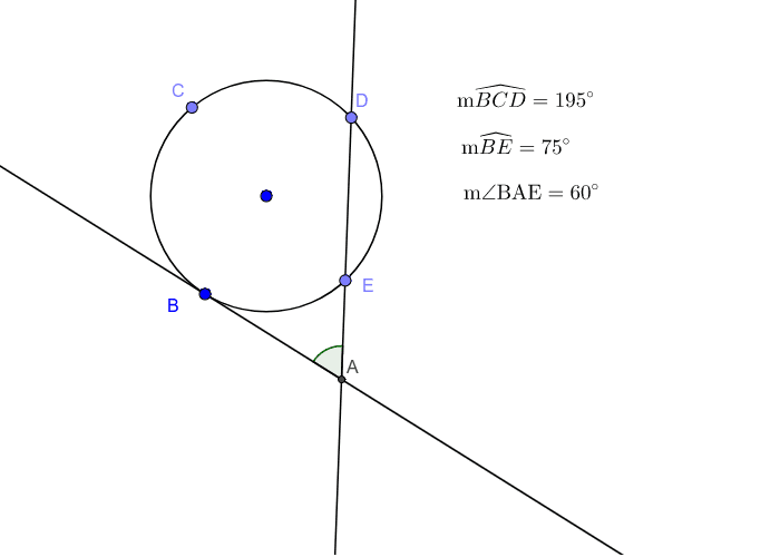 Tangent-Secant Angle Relationships Press Enter to start activity