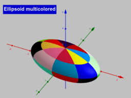 Ellipsoid multicolored