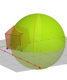 Intersecció d'una esfera i un cub