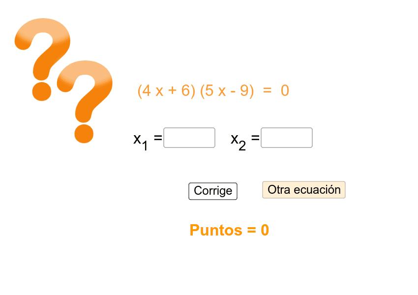 Encuentra los valores de x . Si alguna solución fuese una fracción utiliza el símbolo / del teclado (Ejemplo 2/3) Presiona Intro para comenzar la actividad