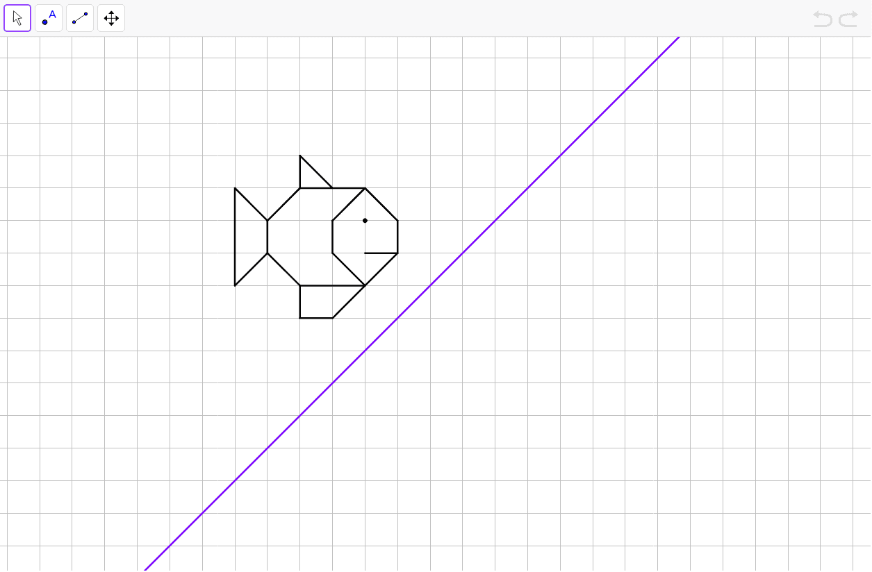 Tracer le symétrique du poisson par rapport à l'axe.