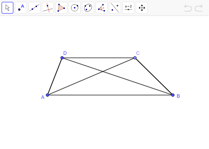 Trapezoid with diagonals