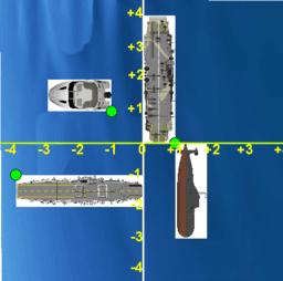 Batalla Naval - Sistema de ejes cartesianos