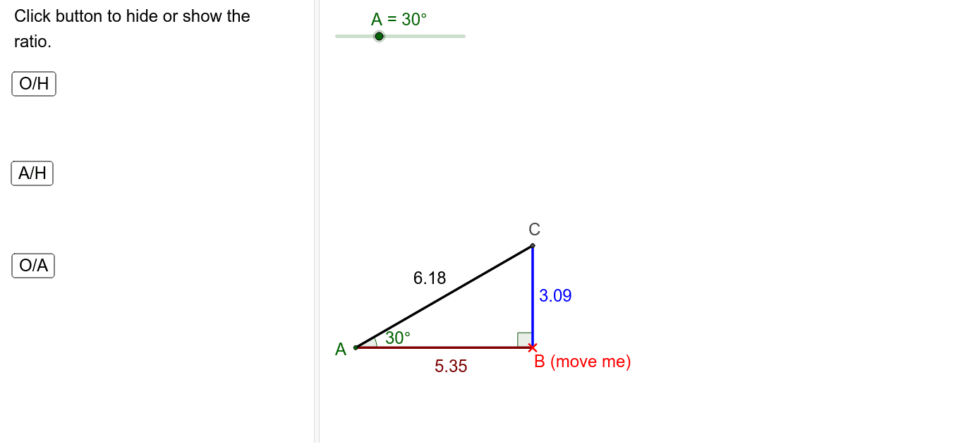 What do you notice when the size of the angle changes?  What do you notice when the length of the side changes?
