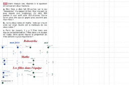 Fractions - Correction du n° 25 page 35 manuel sesamath cycle4