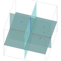 점의 각 평면에 대칭이동 시킨 점