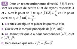 Angles orientés de vecteurs : exercice 25 p 206 (Nathan Transmath 1S 2011)