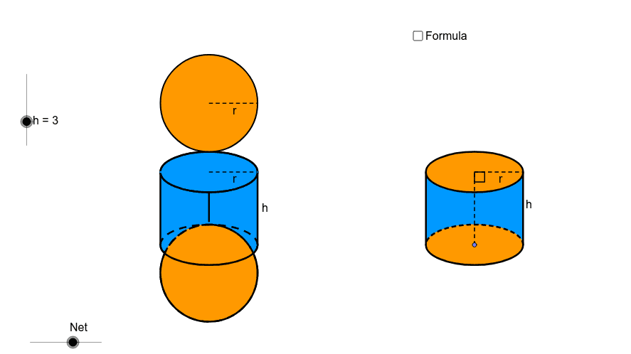 Net of a Cylinder (Prism with a circular base) Press Enter to start activity