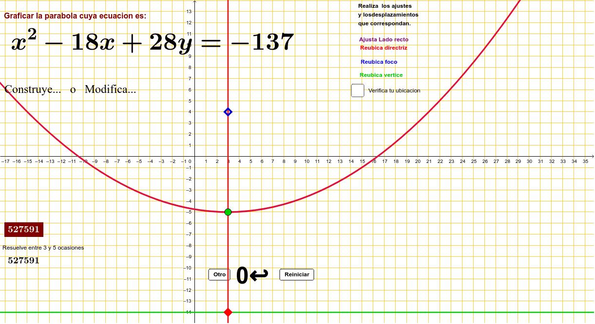 Partiendo de su ecuación general Presiona Intro para comenzar la actividad