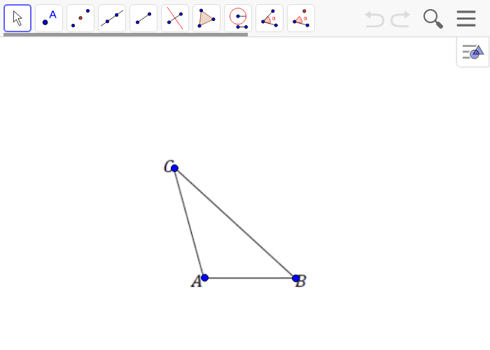 Create a scale drawing of triangle ABC with a scale factor of r = 2