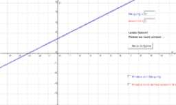 k und d einer linearen Funktion bestimmen