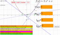 Ecuación de rectas secantes y  tangentes