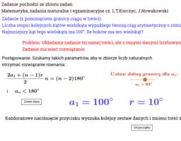 Wielokąt i ciąg - zadanie (>100)