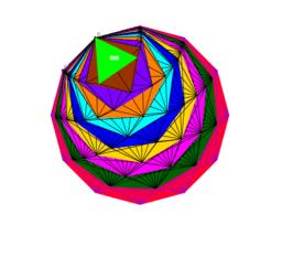 ruedas poligonales