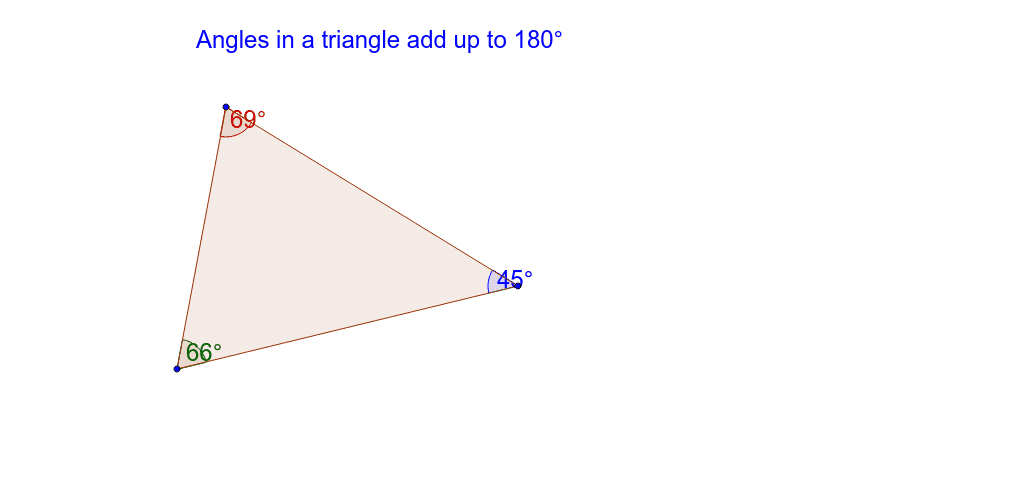 Angles in a triangle add up to ... Press Enter to start activity