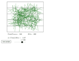 Buffon's needle simulation