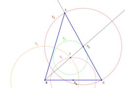 Trojúhelník ABC (a, ta, tb)