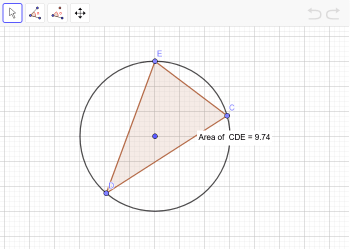 How to get the largest triangle? Press Enter to start activity