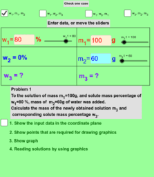 Mixture problems - addition of water