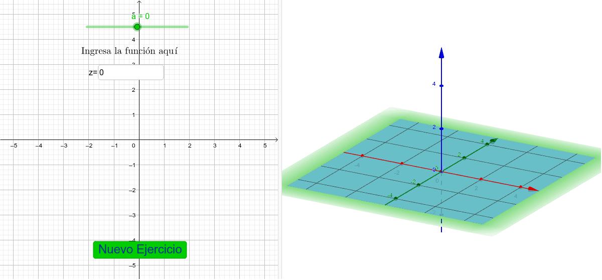 Ingresa la función y mueve el deslizador para encontrar la curva de nivel de la función dada