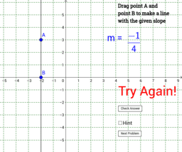 Algebra: 4.4 Find the right slope!