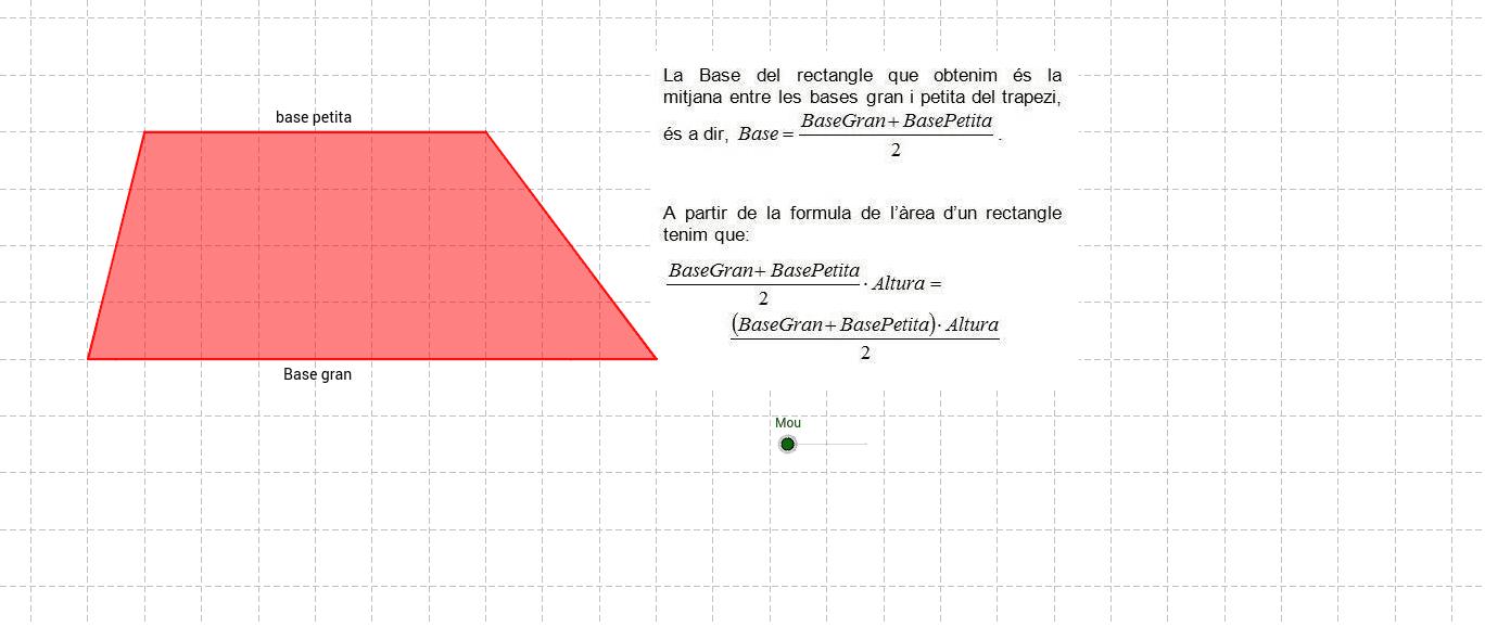 4. Àrea del trapezi Press Enter to start activity