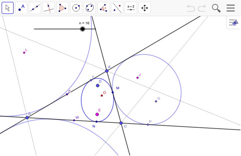 スライダーを戻すと作図の仕方がわかります。垂直に変換したので等角性は保たれています。