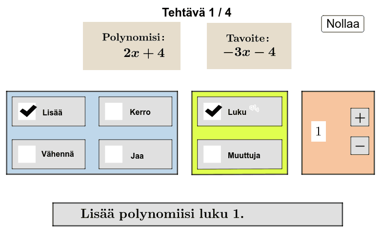 Polynomin laskutoimitukset