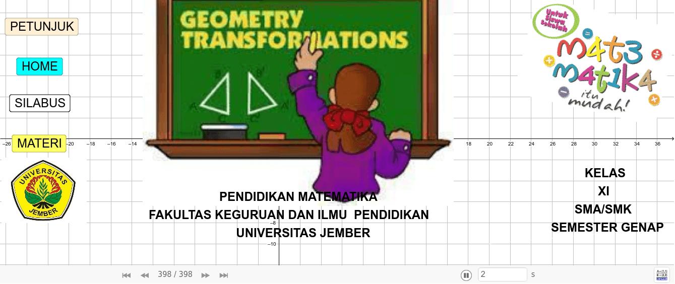MATERI TRANSFORMASI GEOMETRI KELAS XI SMA/SMK