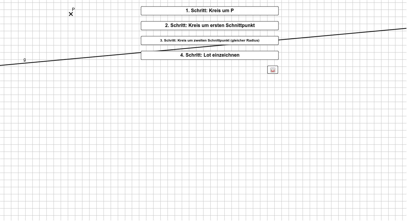 Konstruktion des Lotes Drücke die Eingabetaste um die Aktivität zu starten