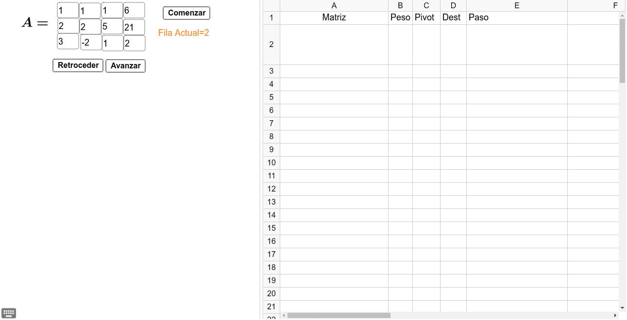 Matriz Escalonada Reducida 3x4 (Para Sistemas de Ecuaciones de 3x3) Presiona Intro para comenzar la actividad