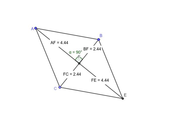 Rhombus-Diagonals