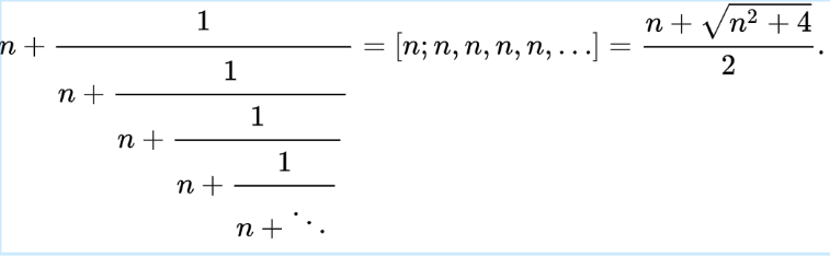 Continued Fraction and Closed Form for Metallic Ratios