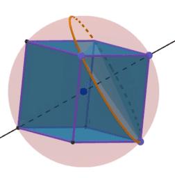 Cubo inscrito en esfera