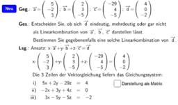Ermitteln von Linearkombinationen