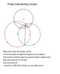 Three Intersecting Circles