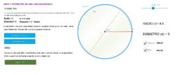 perímetro y área de una circunferencia