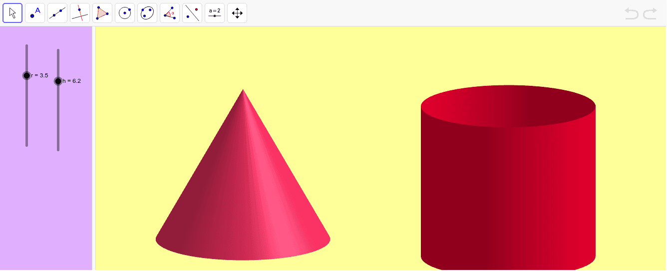 Volumen del cono Presiona Intro para comenzar la actividad