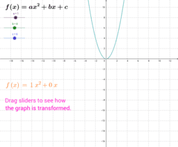Graphs of Quadratic Functions: ax^2 + bx + c