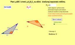 Vježbalica - opseg sličnih trokuta
