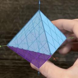 Regular Octahedron (AR Modeling Challenge)